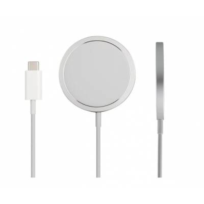 Беспроводное зарядное устройство MagSafe Charger 15W для iPhone/AirPods with Logo